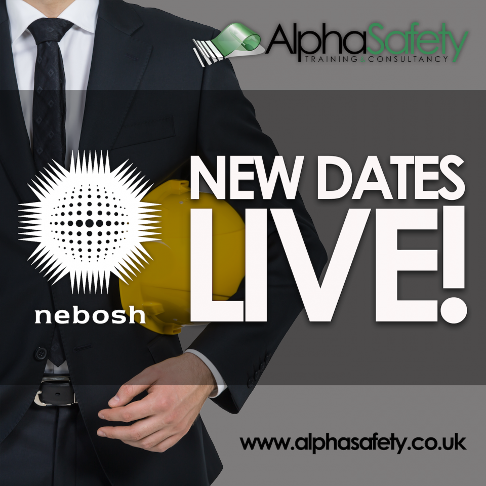New NEBOSH Dates Published!