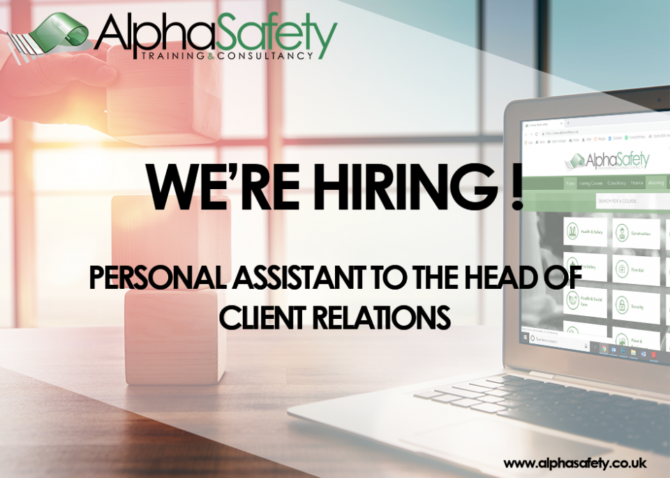 Job Vacancy  -  Personal Assistant to the Head of Client Relations