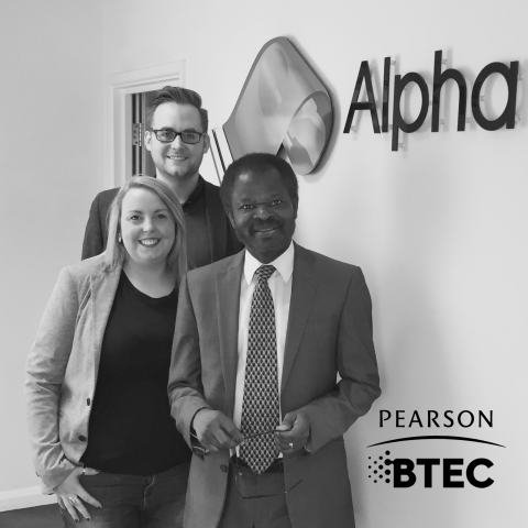 Alpha Welcome Glowing Review from Pearson image